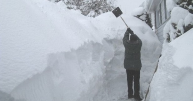 Man Gets So Mad About Shoveling Snow