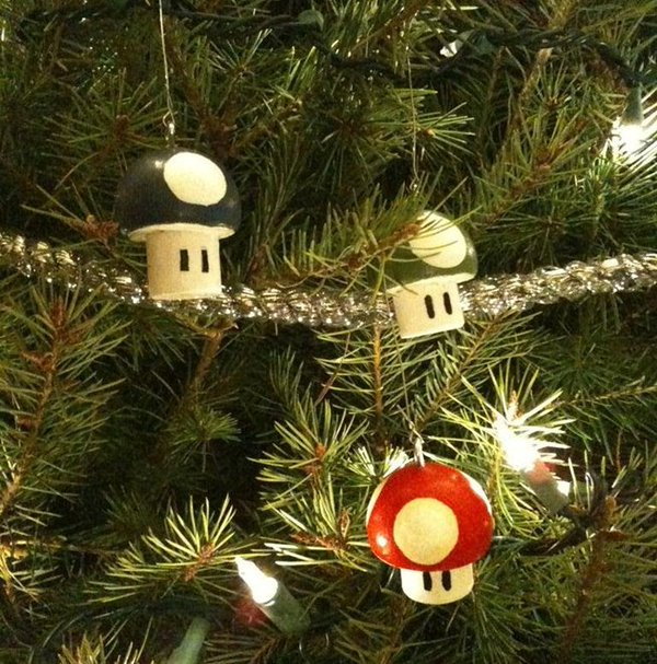 Mario Toad Christmas Ornaments 8