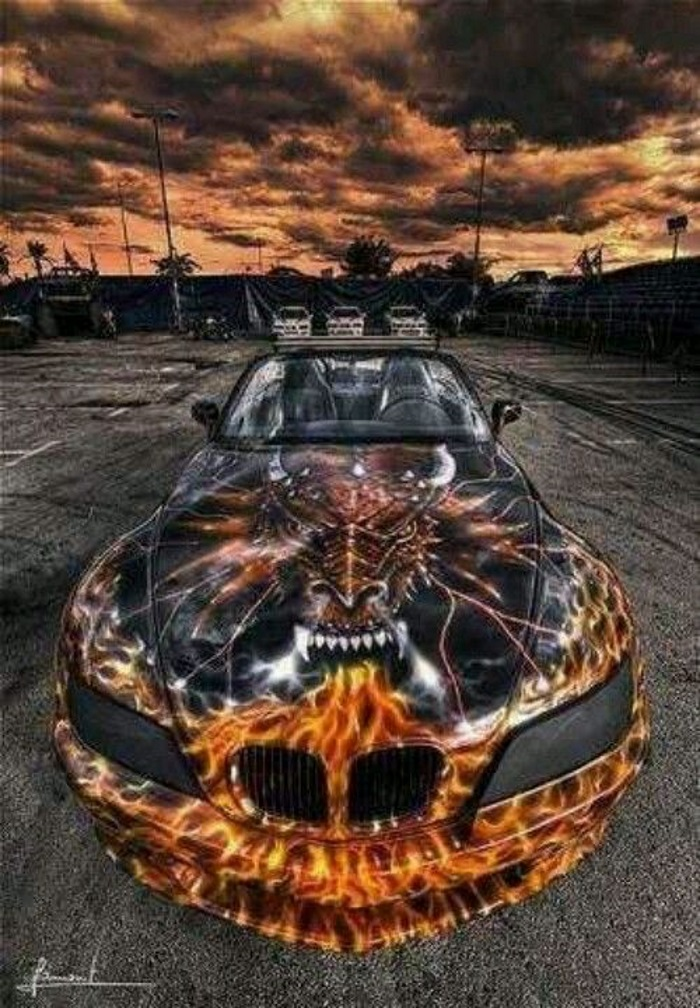 Fire Breathing Dragon Paint Job